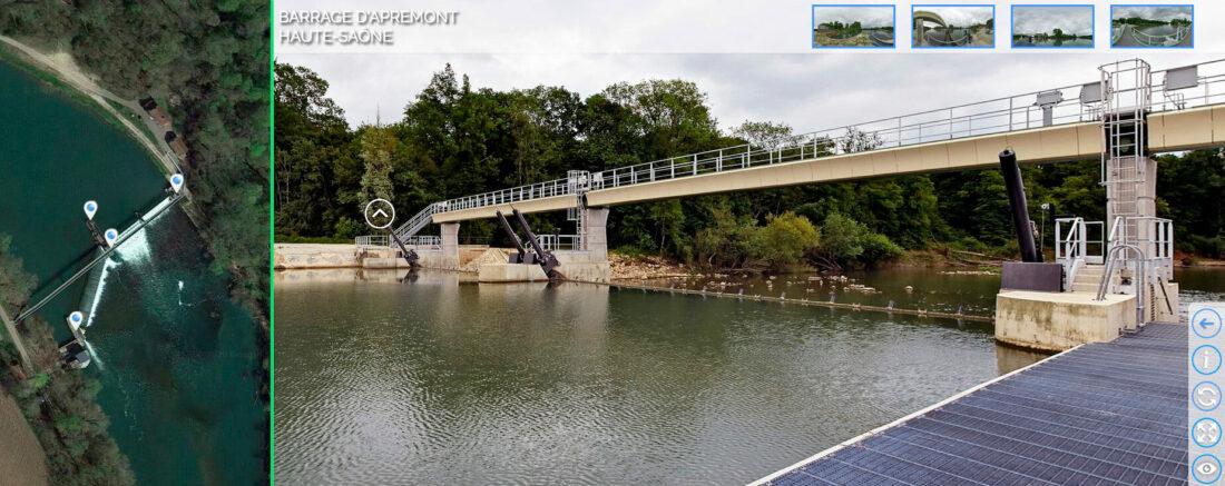 Le Barrage d'Apremont sur la Saône