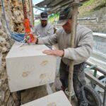 Tailleur de pierre, restauration du tunnel de Saint-Albin